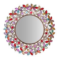 Multicoloured Jewel Wall Mirror, 50 cm
