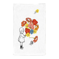 Dianoche Designs - DiaNoche Kitchen Towels Marci Cheary - Flower Picking - Dish Towels