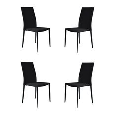 modern white dining room chairs. Divano Roma Furniture  Modern and Sleek Fabric Dining Room Chairs Set of 4 Contemporary Houzz