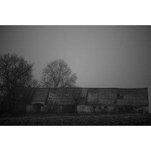 Deserted Barn Black and White Fine Art Print, 75x50 cm