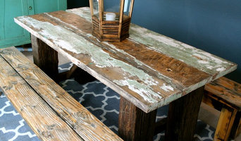 Funky Railroad Tie Table