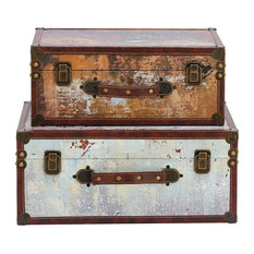 2-Piece Port of Call Decorative Stacked Luggage Set