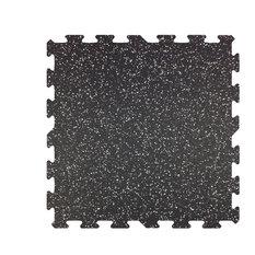 "23""x23"" Professional Grade Interlocking Rubber Floor Tiles, Set of 9"