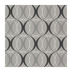Circulate Silver Retro Orb Wallpaper, Bolt