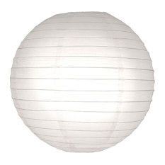 Round Paper Lanterns, Set of 5, White