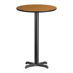 24'' Round Natural Laminate Table Top With Bar Height Table Base by Flash Furniture