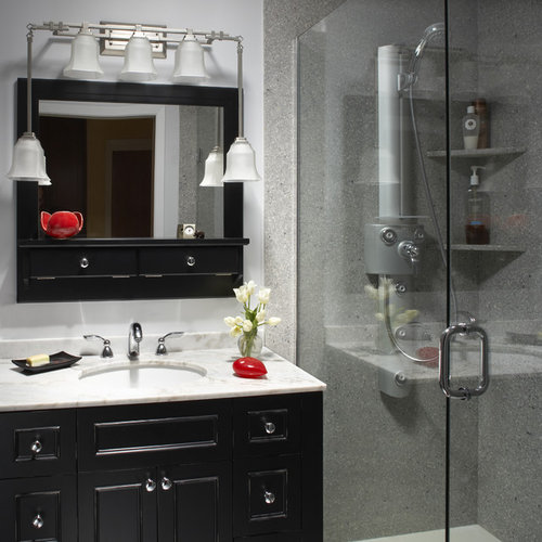 inspiration for an asian home design remodel in san francisco - Shower Surround