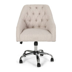 Uriel Tufted Home Office Chair With Swivel Base
