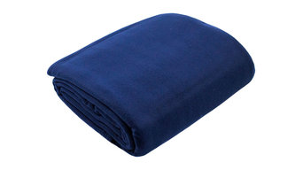 Fleece Bed Blanket, Navy, Twin