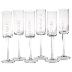 Contemporary Wine Glasses by Zodax