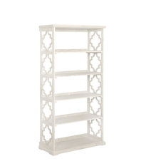 Powell Home Fashions 14A8082 Turner 36 1/2 Inch Wide Rubberwood Shelving Unit