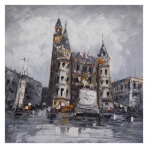 """Helsingborg"" Acrylic Painting, 100x100 cm"