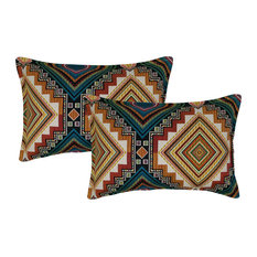 Sherry Kline Aliso Creek Emerald Boudoir Decorative Pillow, Set of 2