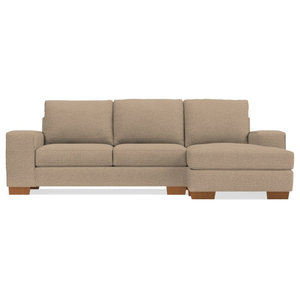 Admirable Gray Top Grain Leather Newton Sectional With Tufting Machost Co Dining Chair Design Ideas Machostcouk