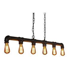Ceiling Light 6-Light Industrial Tube