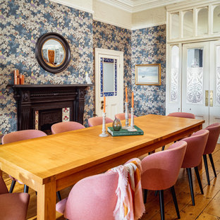 This is an example of a victorian dining room in Cornwall.