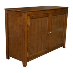 Berkeley Full Size Lift Cabinet Mocha With Solid Wood Door Panels