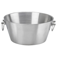 """Kraftware Brushed Stainless Steel Party Tub, 15"""""""
