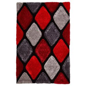 Nobel House Grey Red Rectangular Rug, 150x230 cm