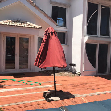 Miami Vice Patio - Before pool and new outdoor floors