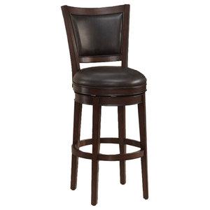 "Set of 2 Size 30/"" Fairfield Bar Height Swivel Bar Stool Chair Cherry"