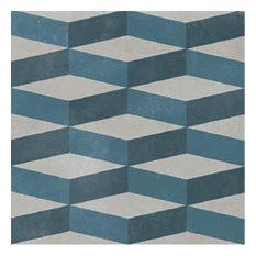 Azulej Cubo, Grey, Box of 24 Tiles