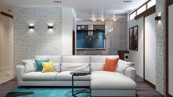 Дизайн-проект квартиры со свободной планировкой, Нижний Новгород