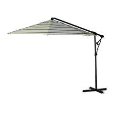 10' Cantilever Off Set Octagon Bravia Umbrella, Hampton Blue Stripe