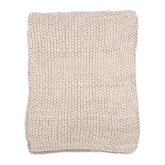 Motley Moss Throw, Stone and Natural