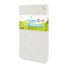 Naturally Organic IV Mattress, Triple Zone 2 in 1 With Natural Bamboo Cover