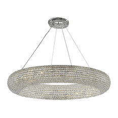 "Crystal Halo Modern Floating Orb Chandelier 41"" Wide"