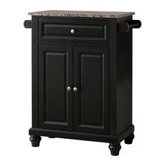Pilaster Designs   Savannah Marble Top Kitchen Island, Black   Kitchen  Islands And Kitchen