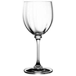 Ripple Effect Lead Crystal Wine Glasses, Set of 6