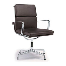 Modern Selections   Director Soft Pad Office Chair With No Wheels,  Chocolate   Office Chairs