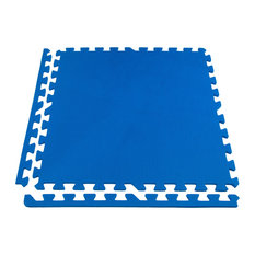 "24""x24"" Eco-Soft+ Interlocking Foam Tiles, Set of 12, Blue"