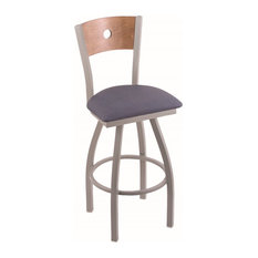 Holland Bar Stool, 830 Voltaire 25 Counter Stool, Anodized Nickel Finish
