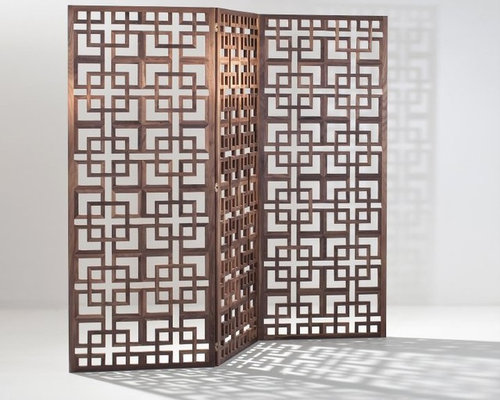 Walnut Room Screen Divider - Screens And Room Dividers - Walnut Room Screen Divider