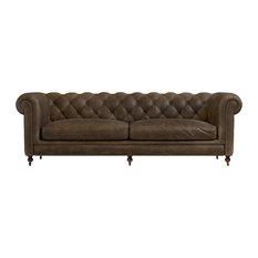 Merveilleux 1st Avenue   Fields Chesterfield 3 Seater Sofa, Walnut Leather   Sofas