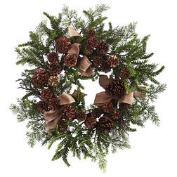 Rustic Wreaths And Garlands by Bathroom Marketplace