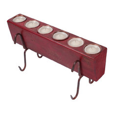 Small 6-Hole Sugar Mold Complete Set, Red, Small