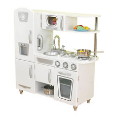 KidKraft   Kidkraft Home Indoor Vintage Style Play Kitchen, White   Kids  Toys And