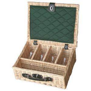 Presentation Drinks Basket, 4 Glass