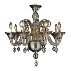 Venetian glass chandeliers houzz crystal lighting palace murano venetian italian 8 lights blown glass in golden teak finish chandelier aloadofball Choice Image