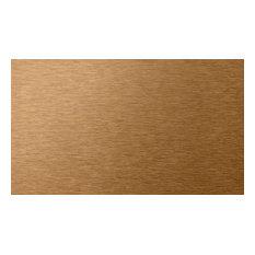 "6""x3"" Peel and Stick Backsplash Metal Subway Wall Tiles, Copper, Set of 32"