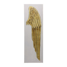 Right Gold Angel Wing, Oil Painting on Canvas Wall Art