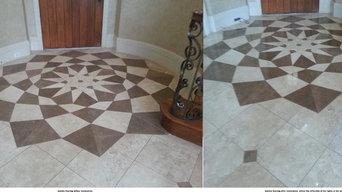 Marble floor restoration Before & After #1