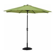 Sunbrella 8 Ribs 10' Outdoor Patio Umbrella With Auto Tilt and Crank, Green