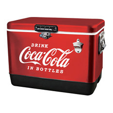 Koolatron Coca Cola Classic Red Stainless Steel Ice Chest