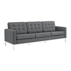 ROMAN UPHOLSTERED FABRIC SOFA/GRAY