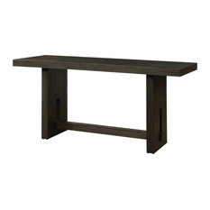 ACME Haddie Counter Height Table, Distressed Walnut